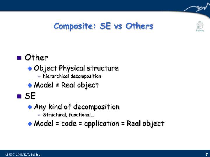 Composite: SE vs Others
