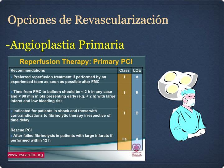 -Angioplastia Primaria