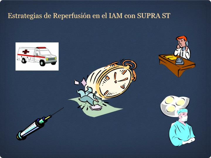 Estrategias de Reperfusión en el IAM con SUPRA ST