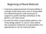 beginning of book material