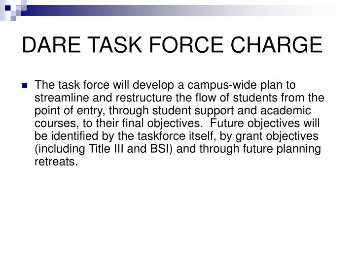DARE TASK FORCE CHARGE