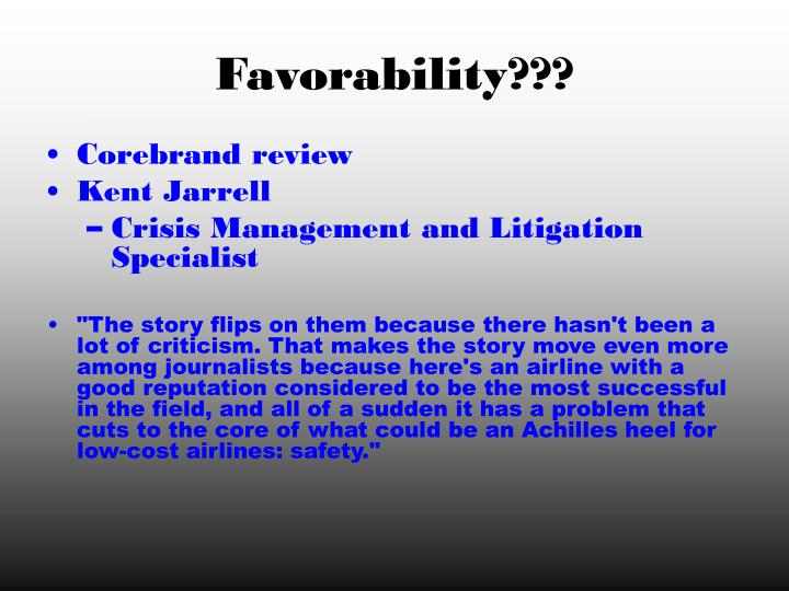 Favorability???