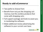 ready to add ecommerce