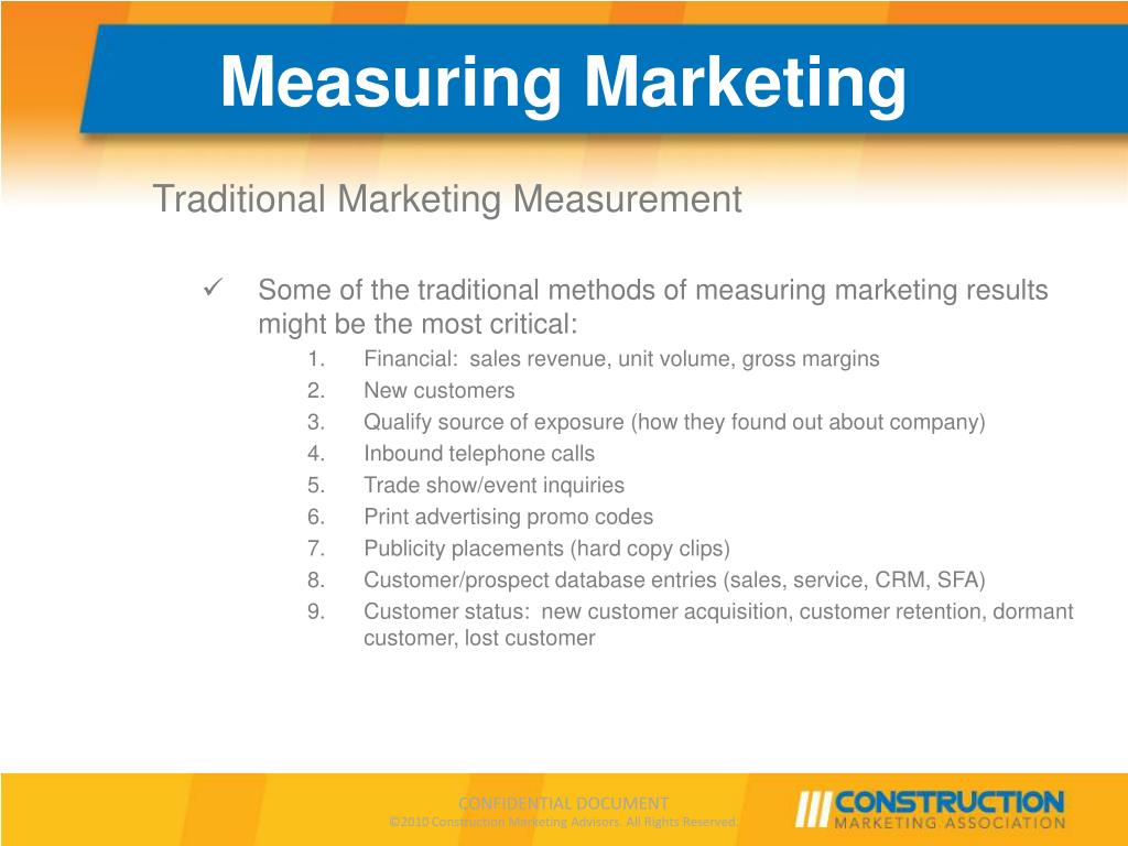 PPT - Webcast: How to Measure Construction Marketing Results