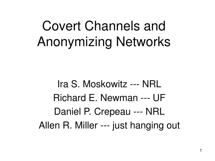 covert channels and anonymizing networks n.