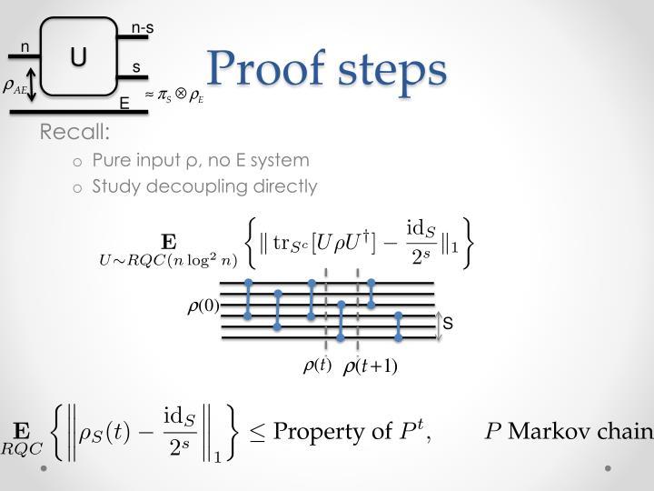 Proof steps