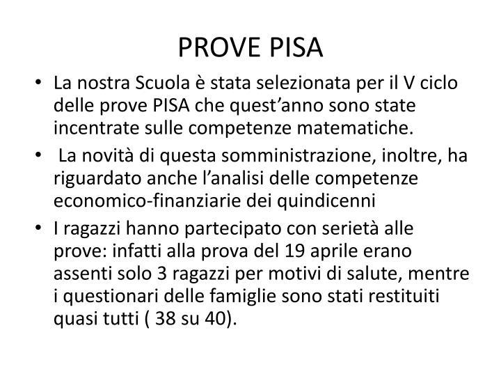 PROVE PISA