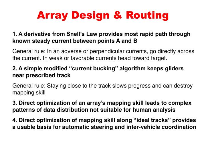 Array design routing