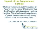 impact of the programmes schools