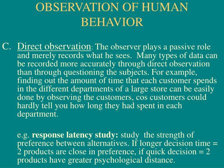 observing human behavior