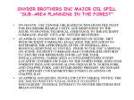 snyder brothers inc major oil spill sub area planning in the forest4