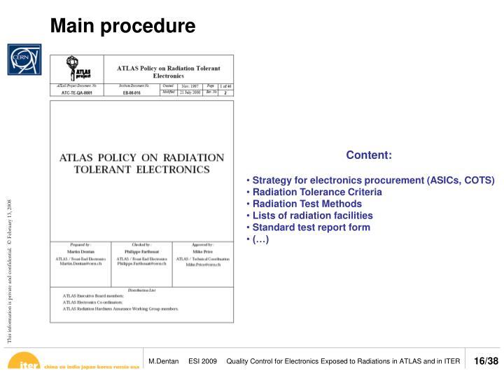 Main procedure