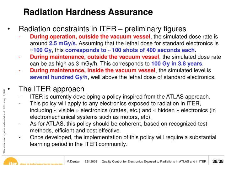 Radiation Hardness Assurance