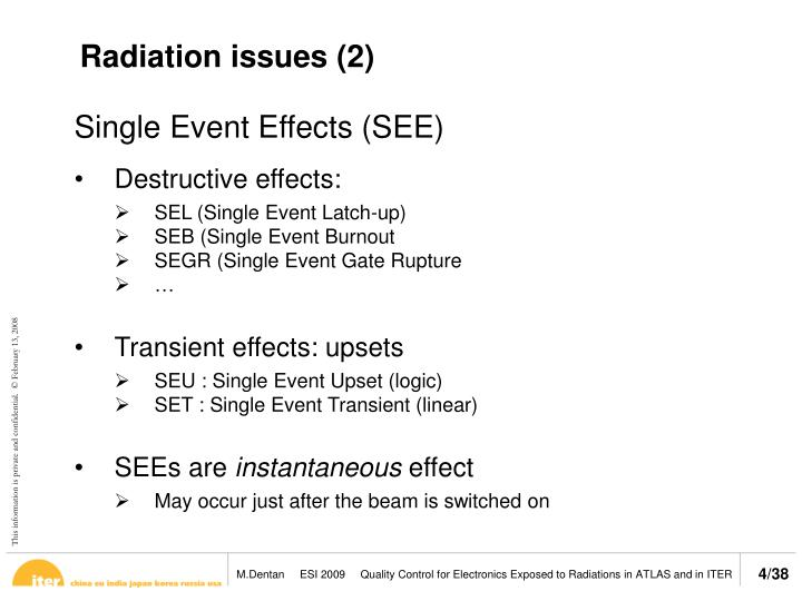 Radiation issues (2)