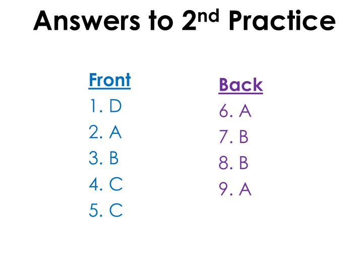Answers to 2