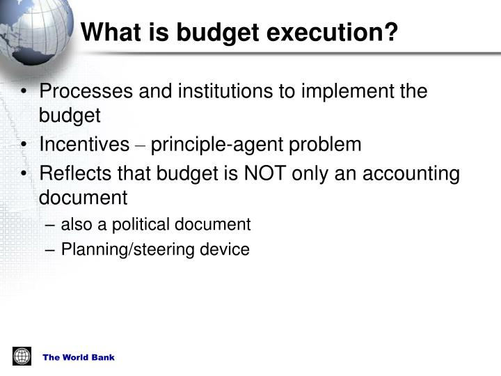 What is budget execution?