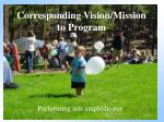 corresponding vision mission to program1