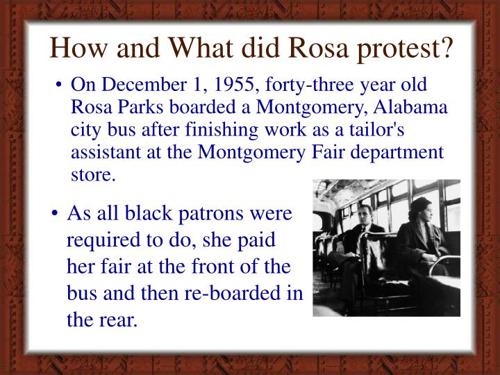 How and What did Rosa protest?