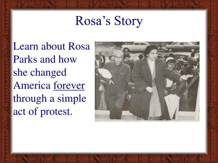 Rosa s story