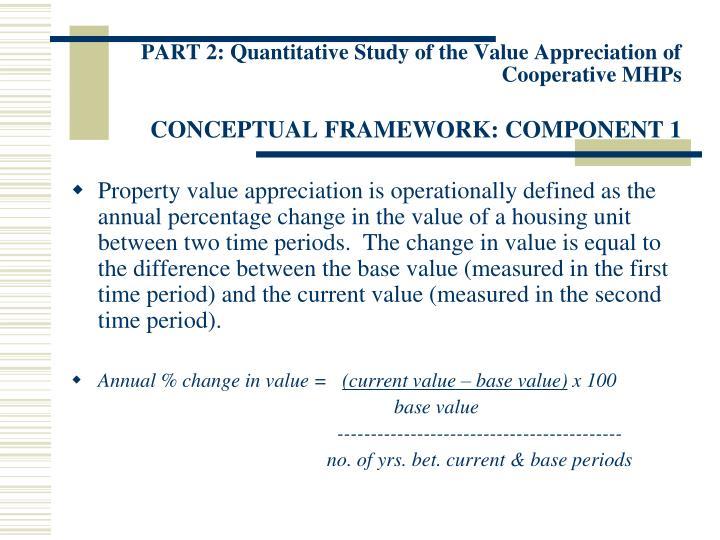 PART 2: Quantitative Study of the Value Appreciation of Cooperative MHPs