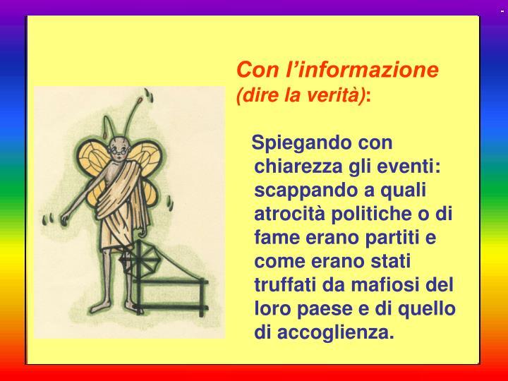 Con l'informazione