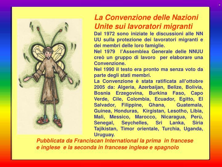 La Convenzione delle Nazioni Unite sui lavoratori migranti