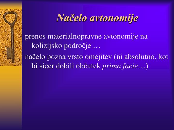 Načelo avtonomije