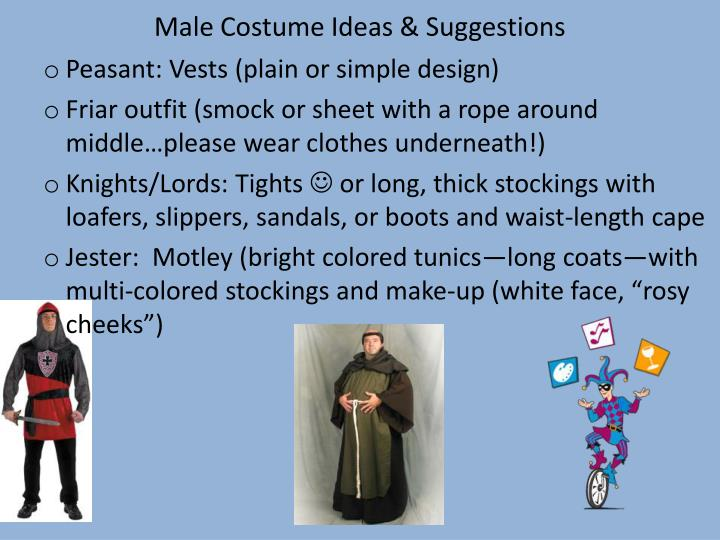 male costume ideas suggestions