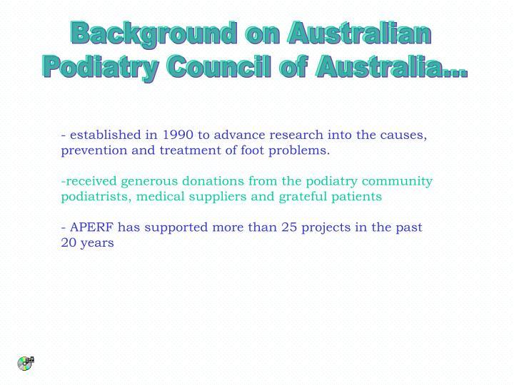 Background on Australian
