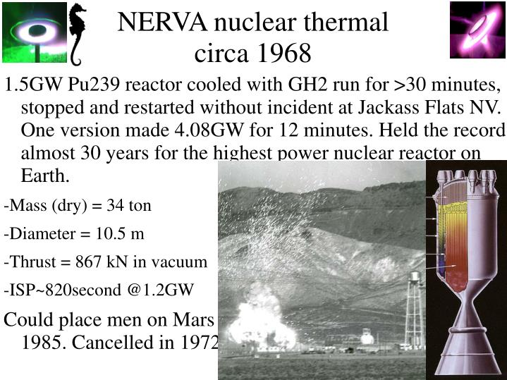 NERVA nuclear thermal
