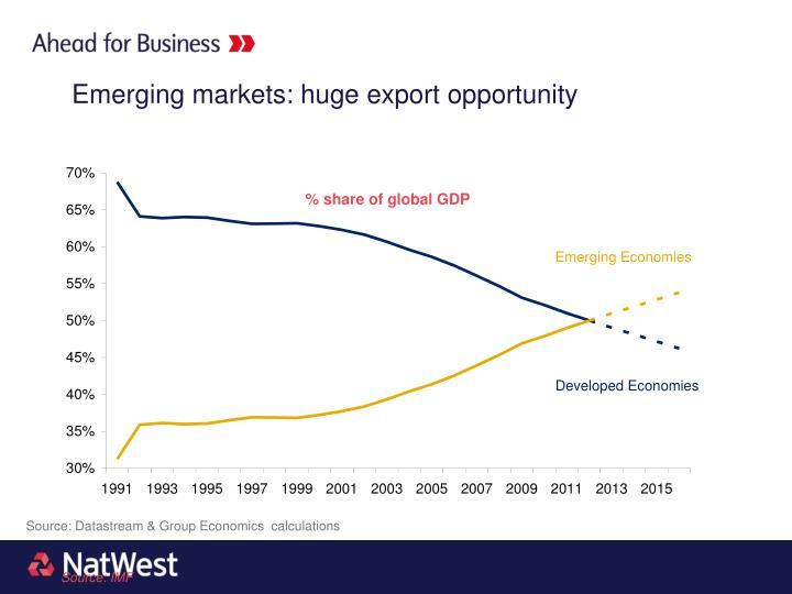 Emerging markets: huge export opportunity