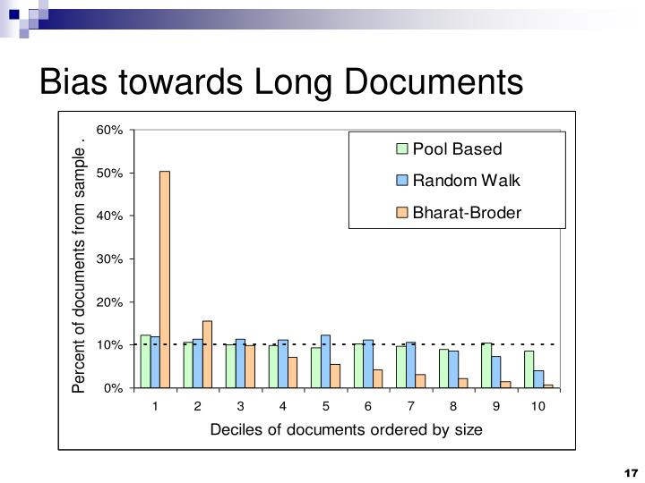 Bias towards Long Documents