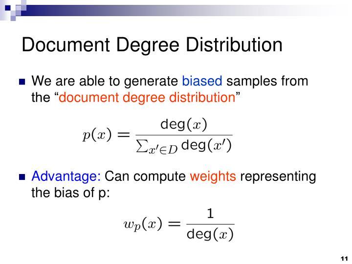 Document Degree Distribution