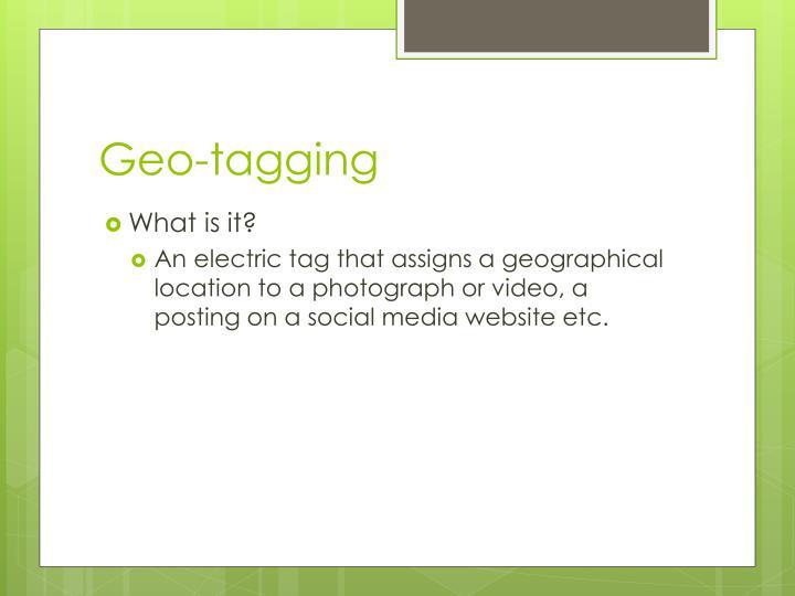Geo tagging1