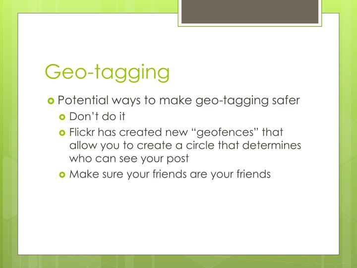 Geo-tagging
