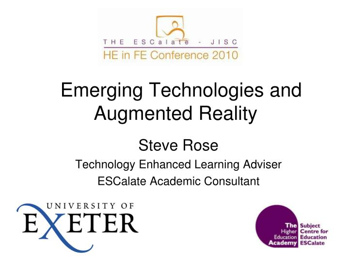emerging technologies and augmented reality n.
