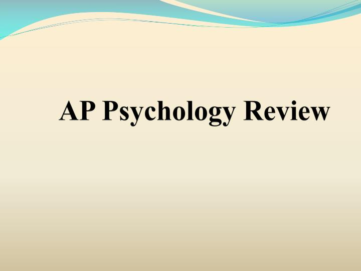 ap psychology review n.