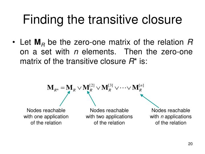 Finding the transitive closure