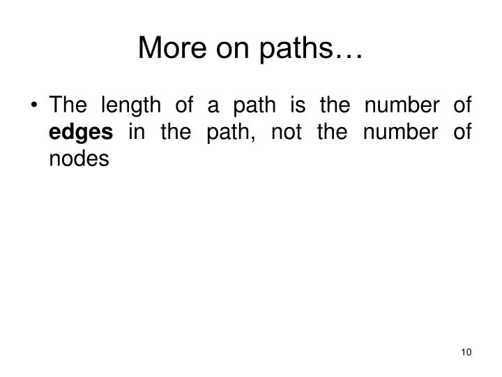 More on paths…