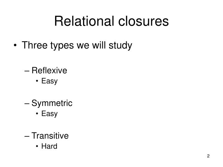 Relational closures