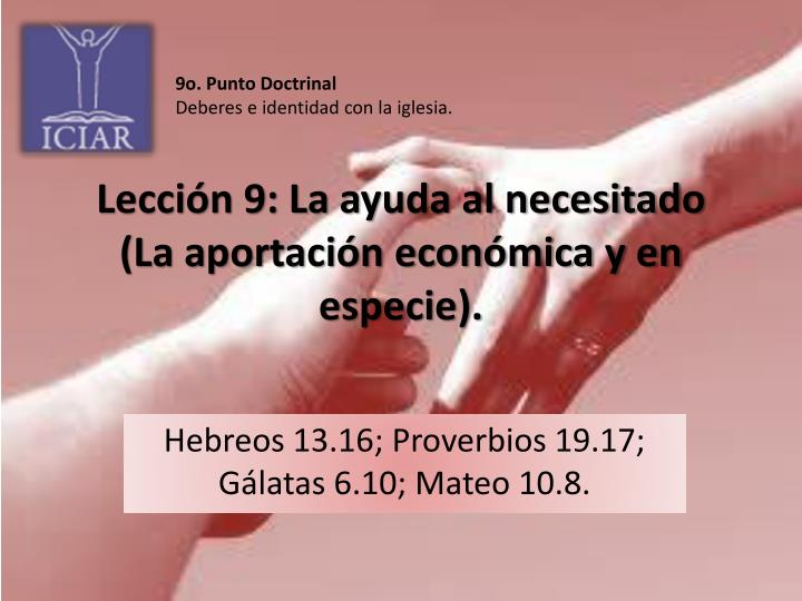 9o. Punto Doctrinal