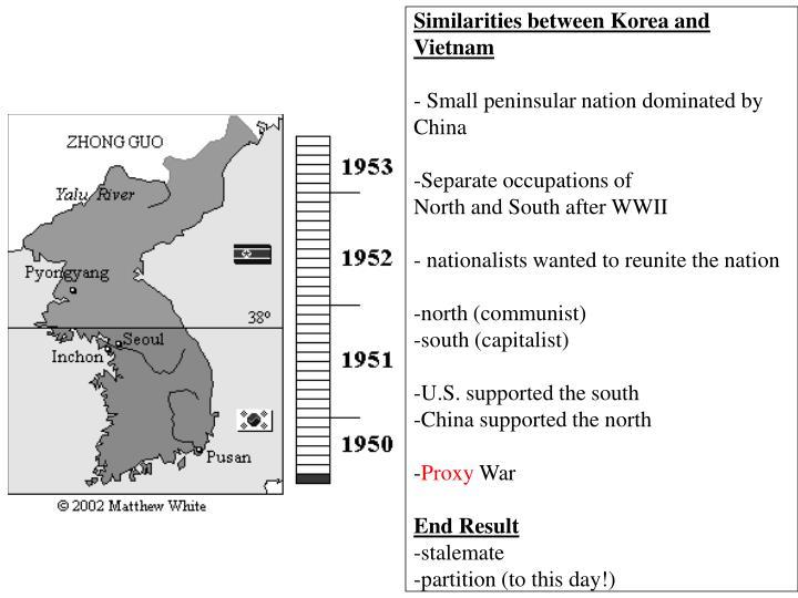 Similarities between Korea and Vietnam