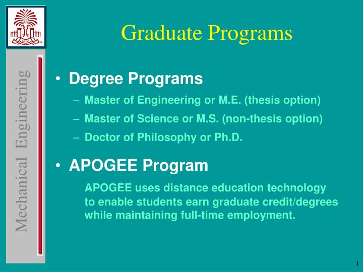 PPT - Graduate Programs PowerPoint Presentation, free