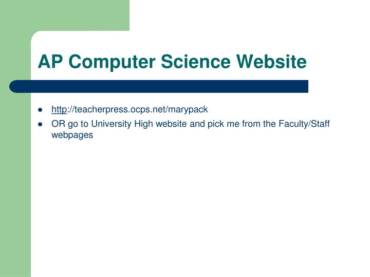 AP Computer Science Website