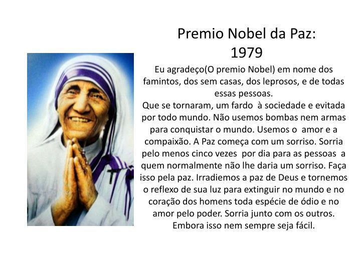 Premio Nobel da Paz: