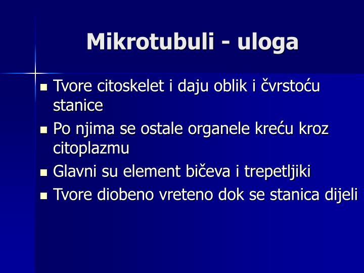 Mikrotubuli - uloga