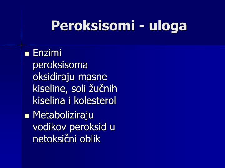 Peroksisomi - uloga