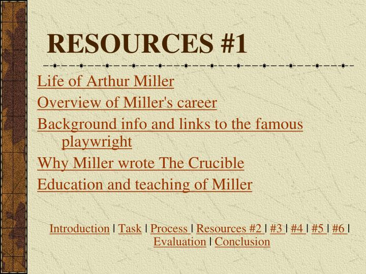 RESOURCES #1