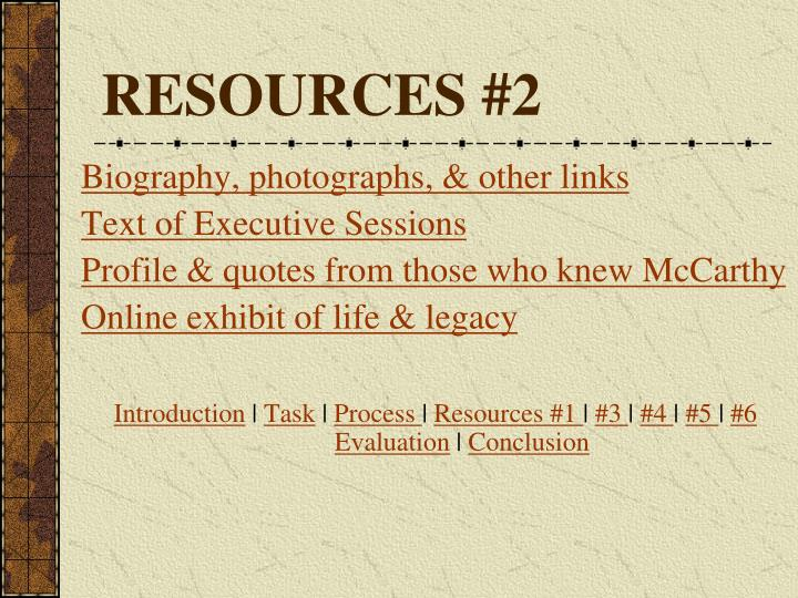 RESOURCES #2