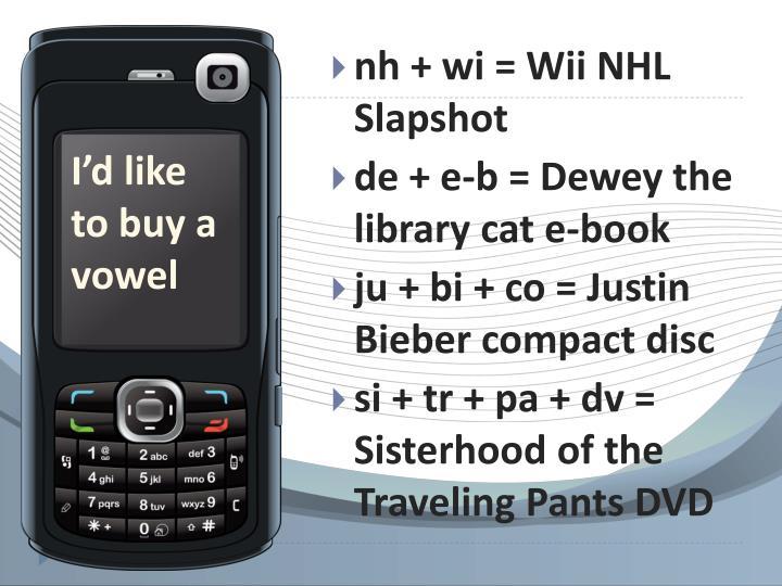 nh + wi = Wii NHL Slapshot